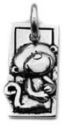 Clayvision Year of the Monkey Chinese Zodiac Pendant Charm