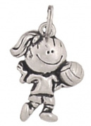Clayvision Volleyball Girl Pendant Charm