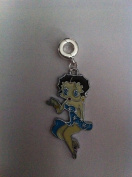Divine Beads Blue Enamel Betty Boop Dangle Charm Bead fits Pandora, Biagi, Tedora, Chamilia, Bacio, Troll and other European style bracelets. All purchases from Divine Beads will receive a free gift with their order as a thank you