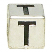 "Block Letter ""T"" Alphabet Charm By Olympia - Compatible with Pandora & Troll Bracelets"