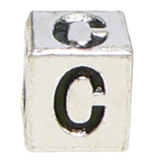 "Block Letter ""C"" Alphabet Charm By Olympia - Compatible with Pandora & Troll Bracelets"