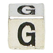 "Block Letter ""G"" Alphabet Charm By Olympia - Compatible with Pandora & Troll Bracelets"
