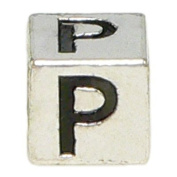 "Block Letter ""P"" Alphabet Charm By Olympia - Compatible with Pandora & Troll Bracelets"