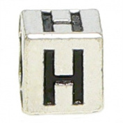 """Block Letter """"H"""" Alphabet Charm By Olympia - Compatible with Pandora & Troll Bracelets"""