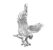 Sterling Silver Charm Pendant Hawk Eagle Falcon Bird