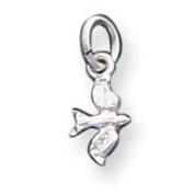 Sterling Silver Bird Charm - JewelryWeb