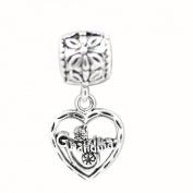 Grandma Dangle Fashion Charm Bead-fits Pandora, Troll & Chamilia European Charm Bracelets