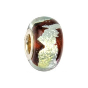IMPPAC red Murano Style Glass Bead, 925 Sterling Silver, fits European Charms Bracelets SMB8020