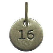 1.3cm Days to Remember Number 16 Embossed Collectible Charm