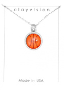 Clayvision Colour Basketball Charm on a Necklace