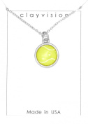 Clayvision Colour Tennis Ball Charm on a Necklace