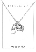 Clayvision German Shepherd Beagle Dog Charm w/ Woof Charm Necklace