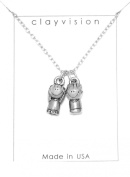 Clayvision Sister Charm, Little Boy Brother Charm Necklace