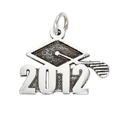 Sterling Silver Class of 2012 Graduation Charm