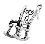 Sterling Silver Three Dimensional Rocking Chair Charm