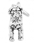 Sterling Silver Labrador Retriever Three Dimensional Dog Charm