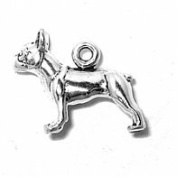 Sterling Silver Charm Pendant Boston Terrier Dog 3d French Bulldog