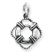 Sterling Silver Antiqued Life Preserver Charm