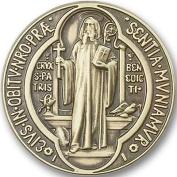 Antique Gold St. Benedict Visor Clip