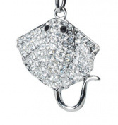 Lilly Rocket Rhinestone Stingray Key Chain with. Crystals