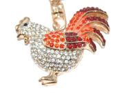 Lilly Rocket Rooster Key Chain with. Crystal