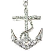 Lilly Rocket Rhinestone Nautical Anchor Keychain