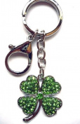 Lilly Rocket Green Clover Key Chain with. Crystal