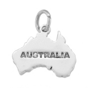 Sterling Silver Map of Australia Charm