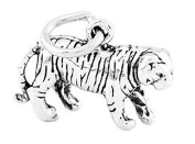Sterling Silver Three Dimensional Tiger Charm