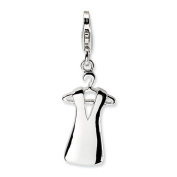 Sterling Silver Dress On Hanger W/Lobster Clasp Charm