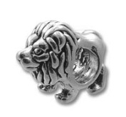 STERLING SILVER Lion Spacer BEAD 3.8 MM HOLE
