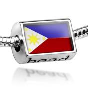 "Beads ""Philippine Flag"" - Pandora Charm & Bracelet Compatible"