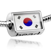 "Beads ""South Korea Flag"" - Pandora Charm & Bracelet Compatible"