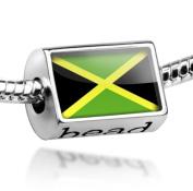 "Beads ""Jamaica Flag"" - Pandora Charm & Bracelet Compatible"