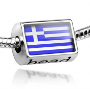 "Beads ""Greece Flag"" - Pandora Charm & Bracelet Compatible"