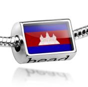 "Beads ""Cambodia Flag"" - Pandora Charm & Bracelet Compatible"
