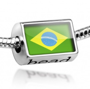 "Beads ""Brazil Flag"" - Pandora Charm & Bracelet Compatible"