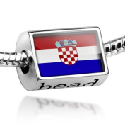"Beads ""Croatia Flag"" - Pandora Charm & Bracelet Compatible"