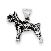 Sterling Silver Antiqued Dog Charm
