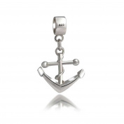 Bling Jewellery Sterling Silver Nautical Anchor Dangle Charm .  Bead