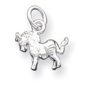 Sterling Silver Horse Charm - JewelryWeb