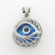 womens bp138 kabbalah evil eye .925 Sterling Silver good luck charm pendant