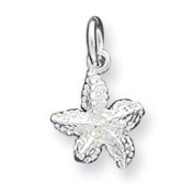 Sterling Silver Starfish Charm - JewelryWeb