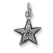 Sterling Silver Antique Starfish Charm - JewelryWeb