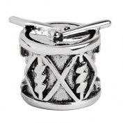 Sterling Silver Drum Charm , Fits Jovana, Pandora, Chamilia Bracelet
