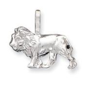 Sterling Silver Lion Charm - JewelryWeb