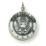 Sterling Silver US Army Medal. Metal Weight- 2.14g.