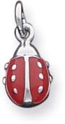 Enamel Ladybug Charm, Sterling Silver