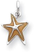 Enamel Starfish Charm, Sterling Silver