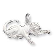 Sterling Silver Tiger Charm - JewelryWeb